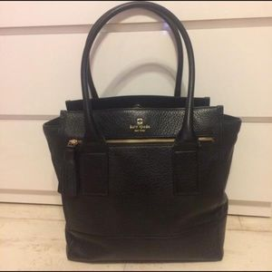Kate Spade Southport Black Leather Tote